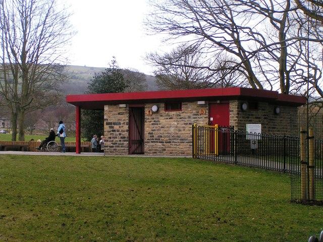Public Toilet block at Shibden Park Playground