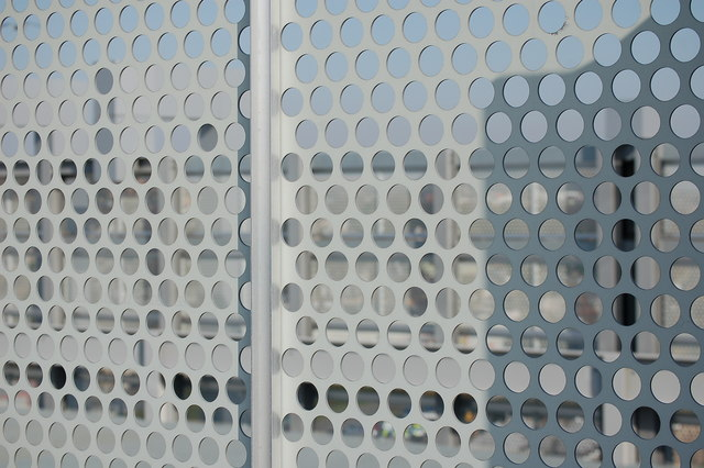 Fence with holes