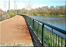J3472 : The Lagan Walkway, Belfast (2) by Albert Bridge