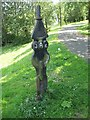 NS7664 : National Cycle Network milepost by Richard Webb