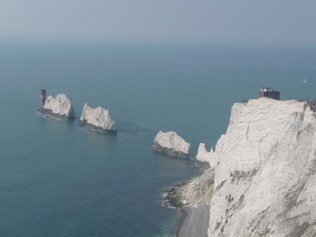 The Needles: dramatic white cliffs