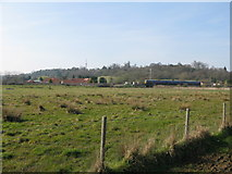 SU9947 : View towards Shalford Junction from River Wey Navigation by Nick Smith