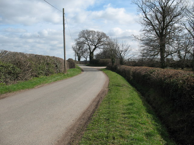 Junction of Footherley Lane and New Barns Lane