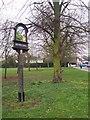 TQ8344 : Headcorn Village Sign by David Anstiss