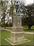 TM1644 : Monument to Suffolk soldiers, Christchurch park by Oxymoron