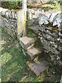 NY9269 : Stone stile with wood mini-door near Turret 26b (Brunton) by Mike Quinn
