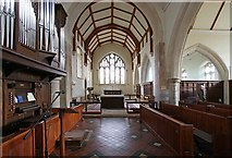 TQ4655 : St Martin's Church, Brasted, Kent - East end by John Salmon