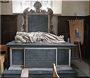 TQ4655 : St Martin's Church, Brasted, Kent - Tomb chest by John Salmon