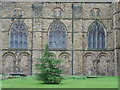 NZ2742 : Three windows: Durham Cathedral by Dylan Moore