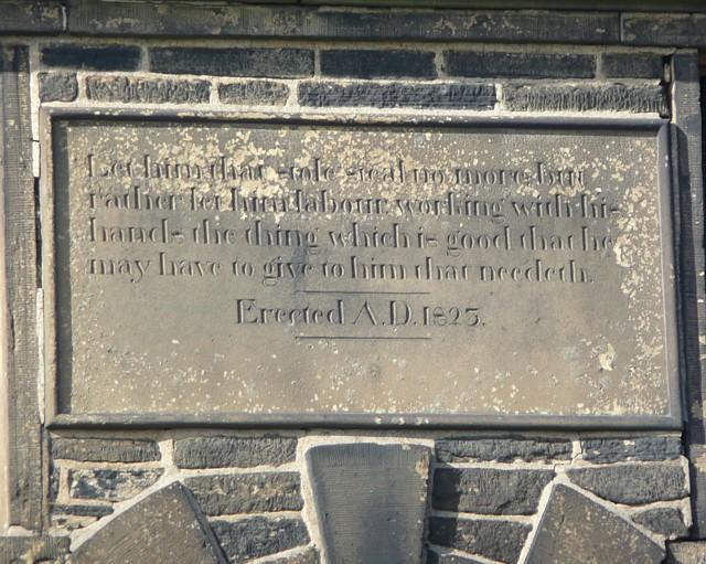 Plaque on Illingworth Gaol, Wrigley Hill