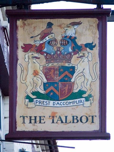Talbot pub sign
