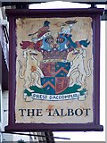 SJ6807 : Talbot pub sign by Mike White