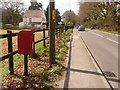 SU0806 : Three Legged Cross: postbox № BH21 97, Verwood Road by Chris Downer