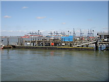 TM2532 : Harwich Harbour ferry landing by Oxymoron