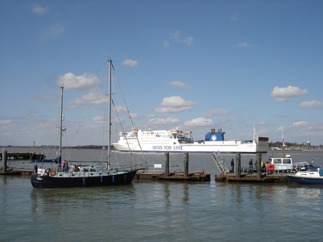 Danish ferry entering Harwich harbour