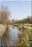SU4828 : Path beside River Itchen south of Winchester College by Peter Facey