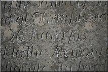 "NJ2265 : Inscription on grave at Spynie ""26 May 1793"" by Des Colhoun"