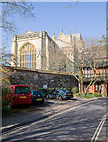 SU4829 : Winchester Cathedral, east end by Peter Facey