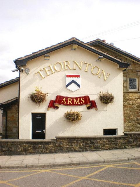 Thornton Arms, Sign