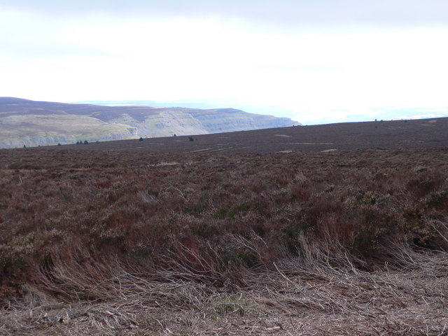 View towards Eglwyseg Mountain from the eastern side of Cyrn-y-Brain