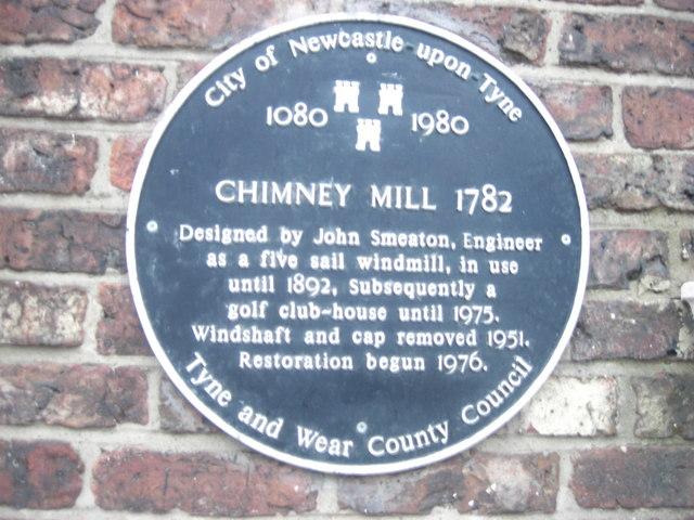 Chimney Mill - Heritage Plaque