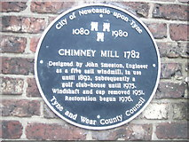 NZ2465 : Chimney Mill - Heritage Plaque by Anthony Foster