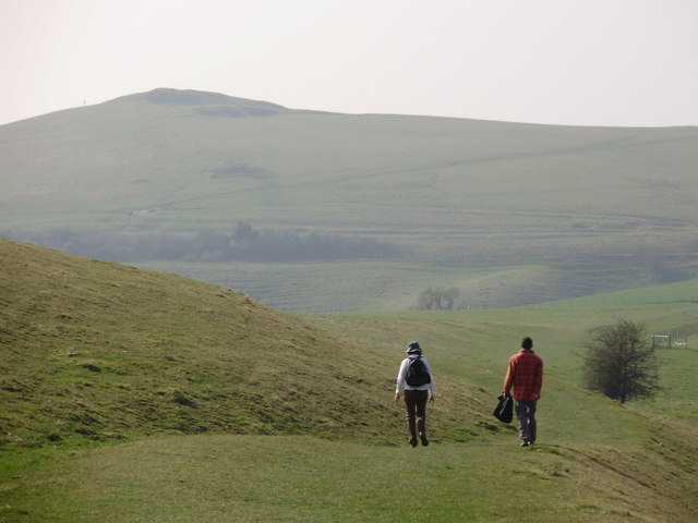 The Bridlepath on the side of Knapp Hill, Pewsey Downs