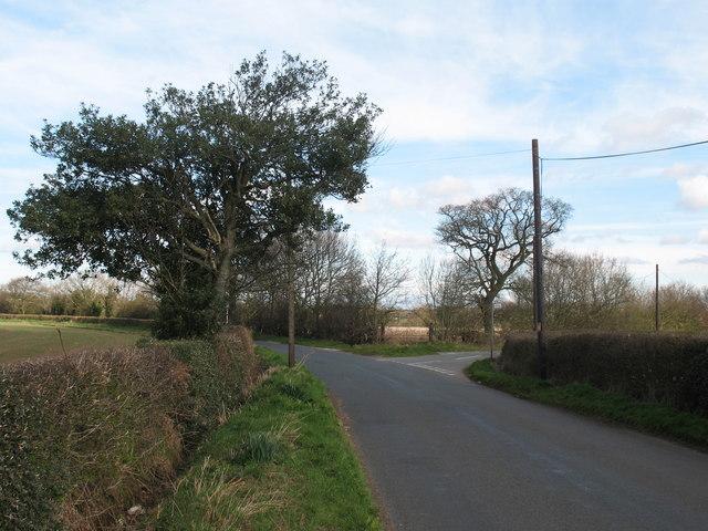 Junction of Lynn Lane and Cranebrook Lane