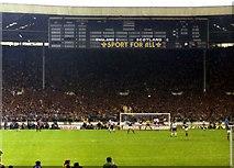 TQ1985 : The Scoreboard end in the old Wembley Stadium by Steve Daniels