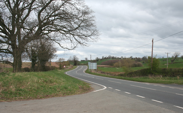 Bends in the A49