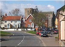 TM1763 : Debenham village scene by Andrew Hill