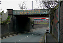SO9199 : Cannock Road railway bridge, Wolverhampton by Roger  Kidd