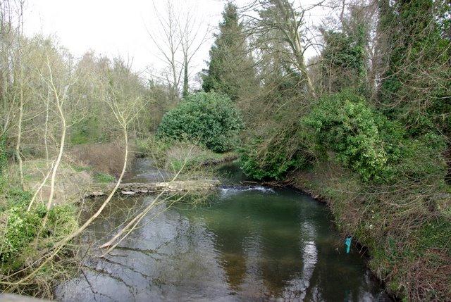 The river Sowe upstream of Baginton Bridge