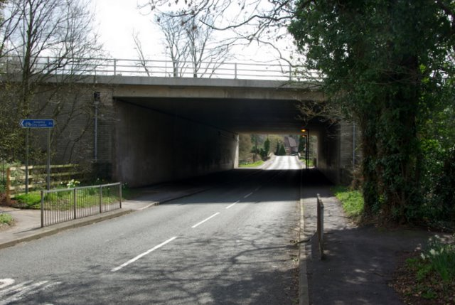 The A45 crossing Mill Hill