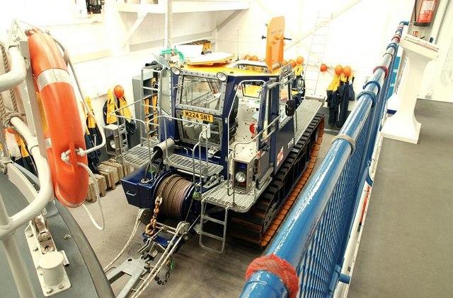 Inside Newcastle lifeboathouse (2)