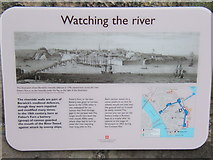 NU0052 : New information board, Fisher's Fort by Barbara Carr