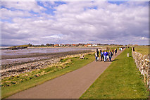 NU1341 : Road/Walkway to Lindisfarne, Holy Island, Northumberland by Christine Matthews