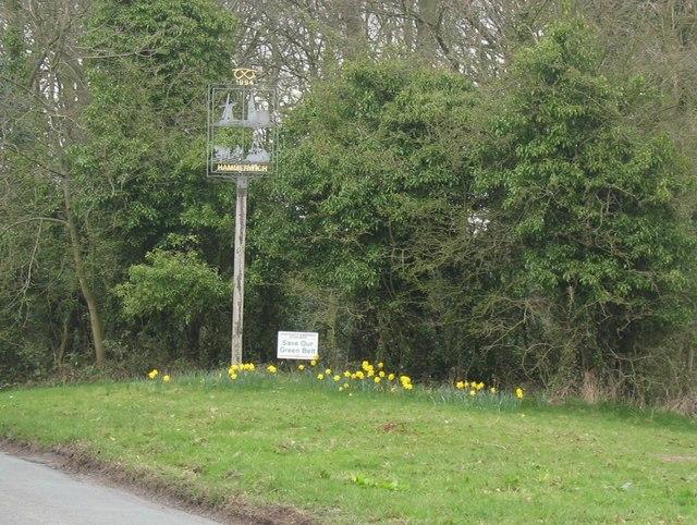 Hammerwich village sign