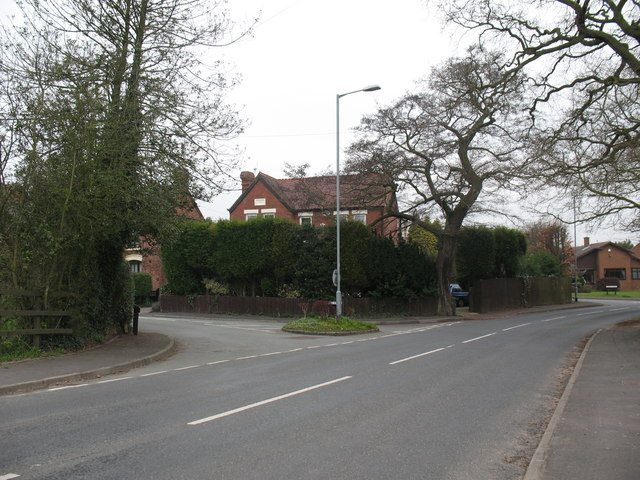 Junction of Burntwood Road and Pingle Lane
