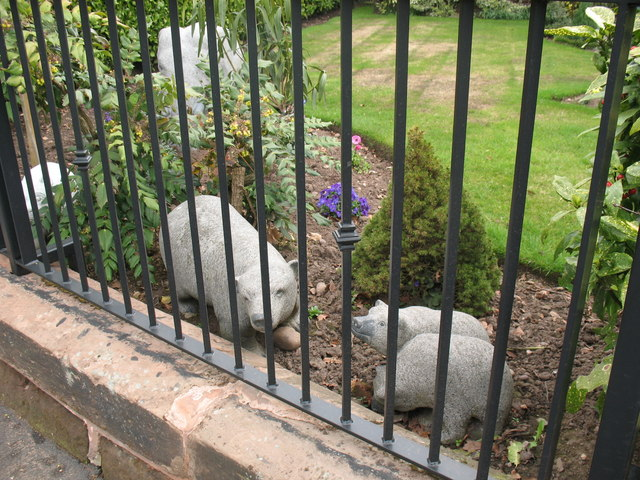 Bear and cubs, Burntwood Road