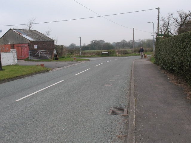 Junction of Overton Lane and Coppy Nook Lane