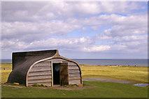 NU1341 : Boat Shed, Lindisfarne, Holy Island, Northumberland by Christine Matthews