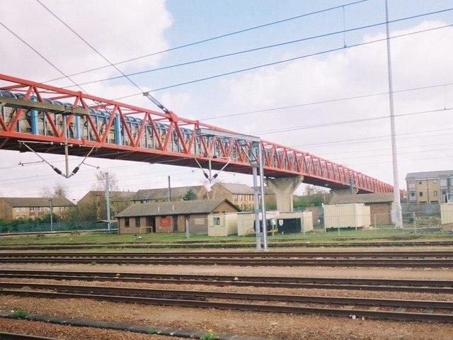 Carter bridge, from platform 4