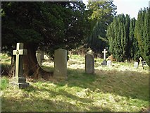 NT4935 : The small Burial ground at the back of St Peters Church by Iain Lees