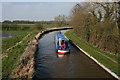 SJ6050 : Canal boat on the Shropshire Union, near Baddiley by Espresso Addict