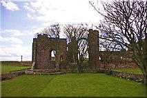 NU1241 : Old Priory, Holy Island, Northumberland by Christine Matthews