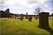 NU1241 : Churchyard, St Mary the Virgin, Holy Island by Christine Matthews