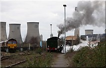 SU5290 : Earl of Mount Edgcumbe leaves the Didcot Railway Centre by Steve Daniels