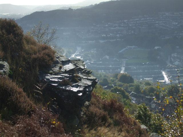 Hillside near Pontypridd
