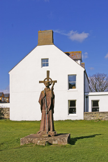 Statue of St Aidan, Holy Island, Northumberland